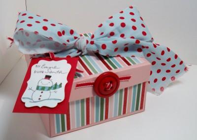 Pudełko udekorowane przez dzieci