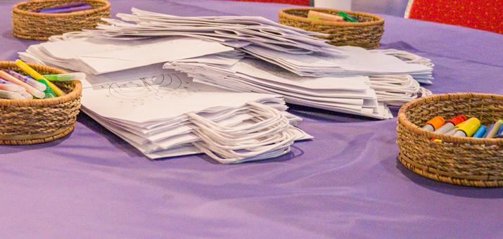 Torby papierowe do kolorowania
