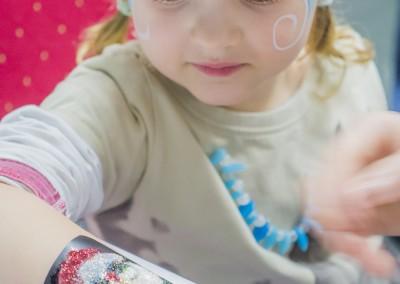 Tatuaż brokatowy - Mikołaj