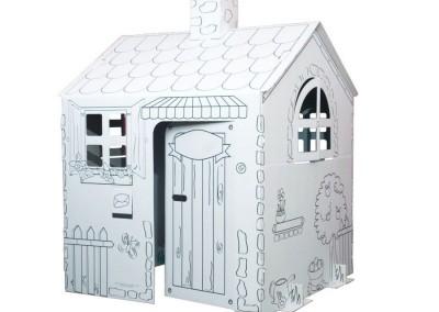 Kolorowanki 3d - domek